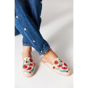 Soludos | Ibiza Embroidered Floral Mule Espadrille